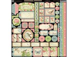 Graphic 45 Designer papir, 30,5 x 30,5 cm Stickerbogen