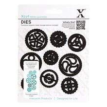 X-Cut / Docrafts Stansning og prægning skabelon Papermania kronologi kollektion