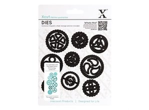 X-Cut / Docrafts Punching and embossing template Papermania chronology collection