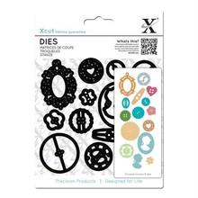X-Cut / Docrafts Stansning og prægning skabeloner til 15 forskellige knapper