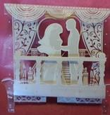 BASTELSETS / CRAFT KITS: ExclusivePop-Up bryllup kort kulisse