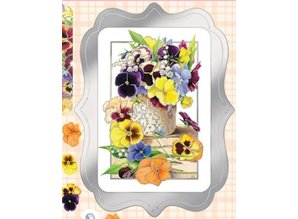 BILDER / PICTURES: Studio Light, Staf Wesenbeek, Willem Haenraets Luxury A4 Die Cut sheet, pansies
