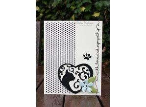 Spellbinders und Rayher Spellbinders, punching and embossing template Filigränes motif, cat and paw