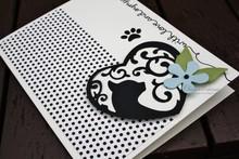 Spellbinders und Rayher Spellbinders, stansning og prægning skabelon Filigränes motiv, kat og pote