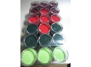 FARBE / INK / CHALKS ... Embossingspulver, 1 frasco de 28 ml, la selección de muchos colores