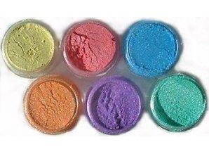 FARBE / INK / CHALKS ... SET Cosmic Shimmer, 6 color + spray bottle brush +