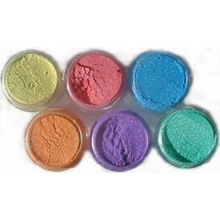 FARBE / INK / CHALKS ... SET Cosmic Shimmer, 6 farver + sprayflaske børste +