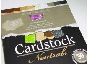 DESIGNER BLÖCKE  / DESIGNER PAPER ColorCore cartulina, A4, 30 hojas, Neutrales