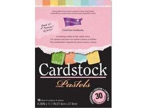 DESIGNER BLÖCKE  / DESIGNER PAPER ColorCore karton, A4, 30 ark, Pastels