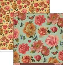 Designer Papier Scrapbooking: 30,5 x 30,5 cm Papier Designerpapier, Roses