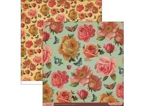Designer Papier Scrapbooking: 30,5 x 30,5 cm Papier Designer Paper Roses