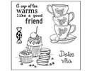Stempel / Stamp: Transparent Sellos Claro, tema: Coffee Set