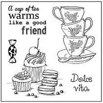 Klare stempler, emne: Kaffe Set