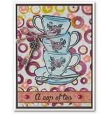 Stempel / Stamp: Transparent Klare stempler, emne: Kaffe Set