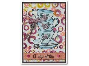 Stempel / Stamp: Transparent Clear stamps, topic: Coffee Set