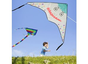 Kinder Bastelsets / Kids Craft Kits 2 Large kites from nylon for painting and decorating!