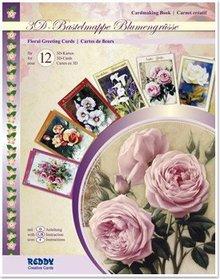 BASTELSETS / CRAFT KITS: Craft wallet complete the design of 12, 3D Cards: Blumengrüsse