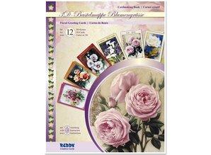 BASTELSETS / CRAFT KITS: Craft pung fuldføre design 12, 3D kort: Blumengrüsse