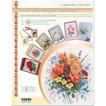 3D håndværk tegnebog blomster, til design af 16 blomst kort