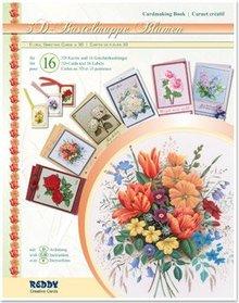 BASTELSETS / CRAFT KITS: 3D håndværk tegnebog blomster, til design af 16 blomst kort