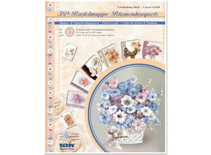 BASTELSETS / CRAFT KITS: 3D craft wallet flower bouquets, flowers for the design of 12 cards