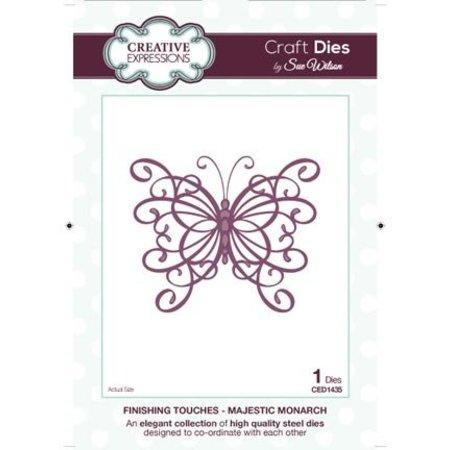 Creative Expressions Expresiones creativas, puñetazos y relieve plantilla Filigrane mariposa