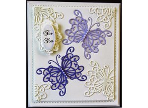 Creative Expressions Creative Expressions, punching and embossing template Filigräne butterfly