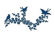 Tattered Lace Presning og stansning skabelon, Tattered Lace Oriental Bluebird