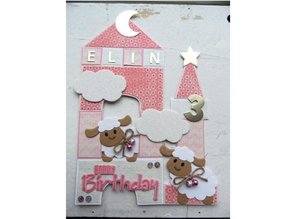 Marianne Design Punching and embossing template Collectables - Eline's sheep