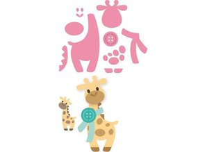 Marianne Design Marianne Design, stansning og prægning skabelon Samlerobjekter - Eline s Giraffe