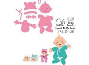 Marianne Design Marianne Design, presning og prægning stencil, Samlerobjekter - Eline Baby