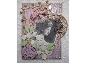 Joy!Crafts und JM Creation Alegría Crafts, perforación - y la plantilla de estampado amor de la primavera, flores / las bayas