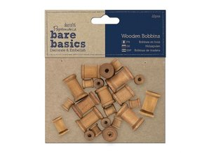 Embellishments / Verzierungen 22 Mini bobine in legno nostalgici