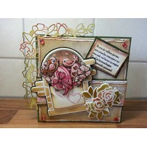 Stempling og Embossing stencil, Marieke Precious, Romance, klatring rose