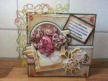 Precious Marieke Stampaggio e goffratura stencil, Marieke preziosa, Romanticismo, rosa rampicante