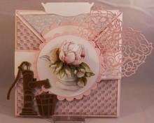 Precious Marieke Skæring og prægning stencils, Romance samling, gamle vandpumpe