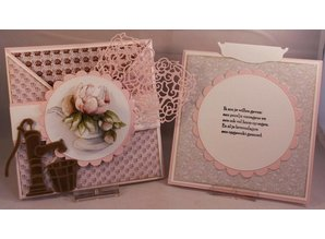 Precious Marieke Cutting and embossing stencils, Romance collection, old water pump