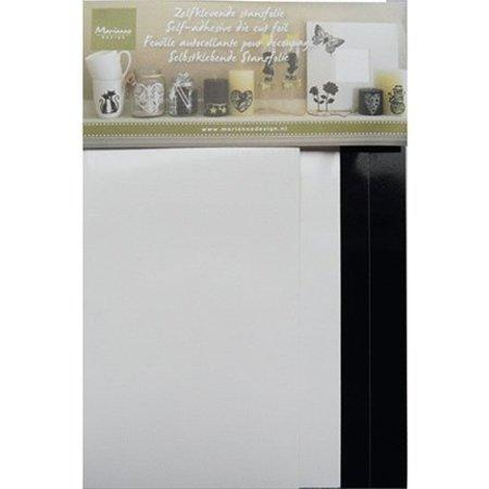 Sticker Self-stempling folie, 4 blade 2x hvid og 2x sort