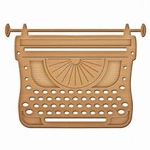 Spellbinders, Stanz- und Prägeschablone, Schreibemaschine