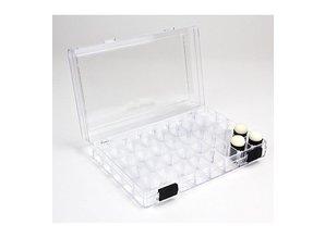 BASTELZUBEHÖR / CRAFT ACCESSORIES Caja de plástico + 3 Esponja Cepillo de punteado