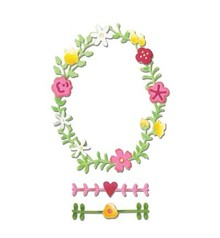Sizzix Cutting and embossing stencils Sizzix, Spring Wreath