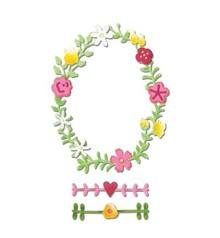 Sizzix Taglio e goffratura stencil Sizzix, Primavera Corona