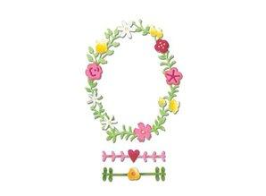 Sizzix Skæring og prægning stencils Sizzix, Spring Wreath