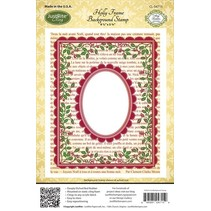 Justrite, rubber stempel, Holly Frame