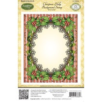 Justrite, rubber stamp, holly frame - only 1 in stock!