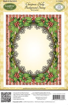 JUSTRITE AUS AMERIKA Justrite, rubber stamp, holly frame - only 1 in stock!
