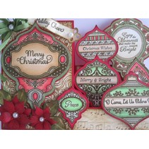 JUSTITE, rubber stamp, Christmas motifs - only 1 in stock!