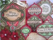 JUSTRITE AUS AMERIKA Justrite, timbro di gomma, Weihnachtsmotive- avere un solo disponibile!