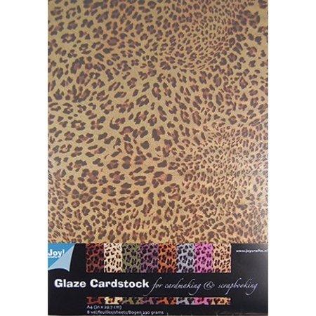 DESIGNER BLÖCKE  / DESIGNER PAPER Gemustertes Papier - Glaze Cardstock Tiere Design
