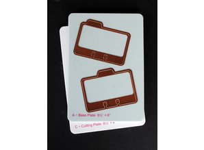 Spellbinders und Rayher Spellbinders, punching and embossing template, Address Book